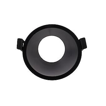 Embudo 45deg. Punto de profundidad de foco empotrable redondo, 1 x GU10 (máximo 12W), negro