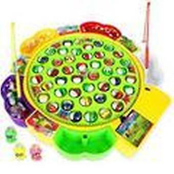 Kids Fishing Electric Rotating Play Game Musical - Plate Set Magnetic Outdoor