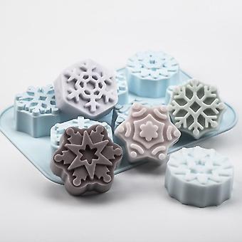 Molde de jabón de silicona copo de nieve de Navidad - Aroma yeso yeso resina molde