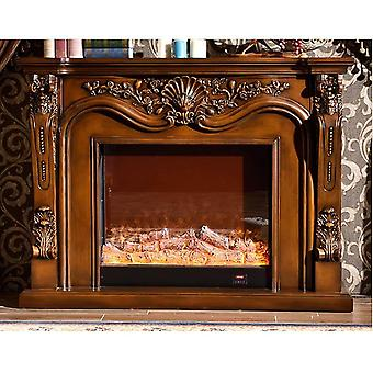 Wooden Mantel With Electric Fireplace - Insert Artificial Firebox Burner (w160cmh120cm)