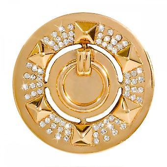 Nikki Lissoni Knock-Knock Médio Ouro Banhado Coin C1421GM