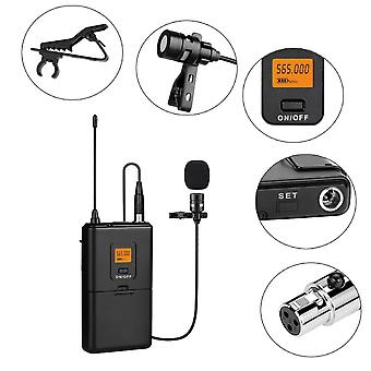 20-channel Uhf Wireless Microphone System With Bodypack Transmitter Mic Receiver For Camera/phones