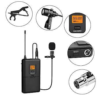 20 قناة Uhf نظام الميكروفون اللاسلكي مع جهاز استقبال جهاز الإرسال Bodypack للكاميرا / الهواتف