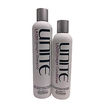 Yhdistä Lazer Suora Päivittäinen Tasoitus Shampoo 10 OZ & Hoitoaine 8 OZ Set