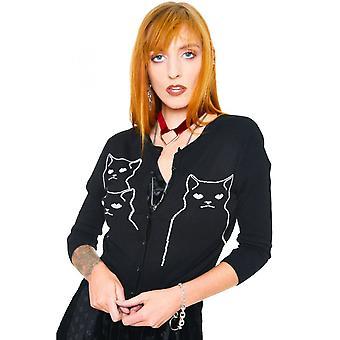 Jawbreaker Clothing Salem Grumpy Kitten Cardigan