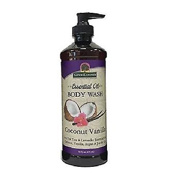 Nature's Answer Essential Oil Body Wash, Coconut Vanilla 16 Oz