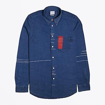 PS Paul Smith  - Tailored Fit Denim Shirt - Blue