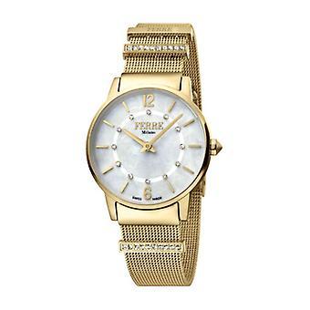 Ferre Milano Women's FM1L102M0211 MOP Dial Gold IP Stainless Steel Watch
