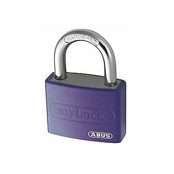 ABUS T65AL/40mm My Lock Aluminium Padlock Violet ABU65AL40VIO