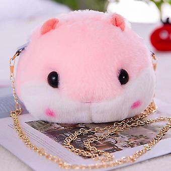 Small Fresh Literary Dumb Cute Hamster Coin Purse, Shoulder Bag
