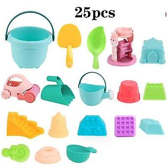 Summer Silicone Soft Baby Beach Bucket Tool, Rake Clessidra Outdoor Play Sand