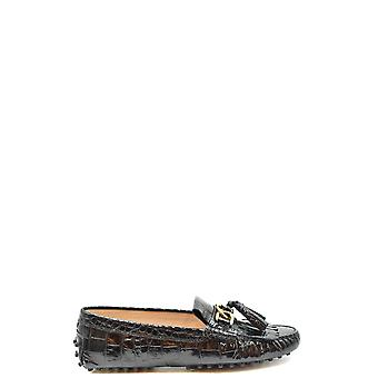 Tod's Ezbc025130 Women's Black Patent Leather Loafers