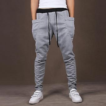 Mode mannen Joggers Sweatpants Big Pockets Gym Broeken Hip Hop