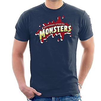 Universal Studios Monsters Blood Logo Men's T-Shirt