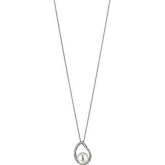 Adriana necklace with pendant silver freshwater white 8.5-9mm R157