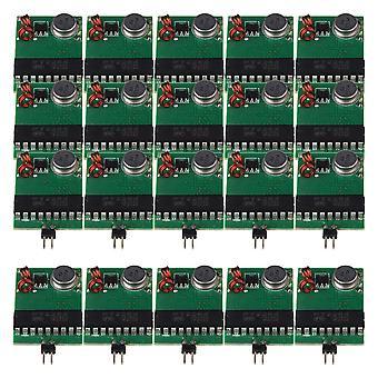 Verde Preto DC3V-12V 433MHz RF Transmissor Módulo Fixo Conjunto de Código fixo de 20