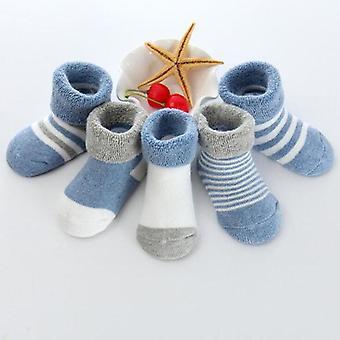 Uudet lämmin vauvan sukat sarjakuva puuvilla syksy ja talvi vauvan jalka sukat