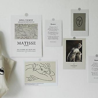 Colocation fundo branco diy, decoração de quarto/cartões de saudação