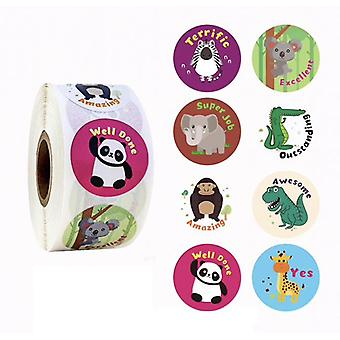 500 adesivi adesivi - Motivi animali - Cartone animato