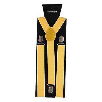 Men's Women Wedding Elastic Leather 3 Clips Suspender.