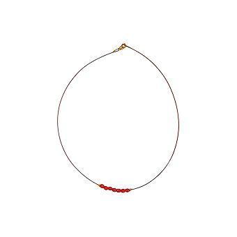 Collana Perline di vetro Rosso