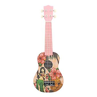 21inch Ukelele String Instruments 4 String Guitar Mini Guitar Pink