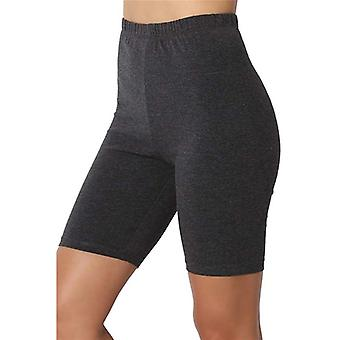 Women Breathable Elastic Force High Waist Secure Pin Sports Leisure Shorts