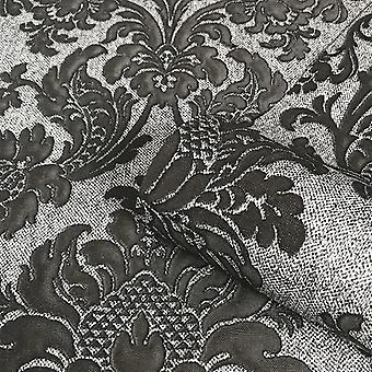 GB6523 Belgravia Sanremo Damask Grey Black