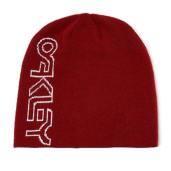 Oakley B1B Logo Reversible Beanie Unisex Winter Hat Red Grey 912018 22Y