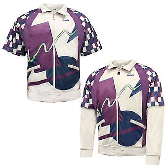 Diadora Mens 90s Track Jacket Jim Courier Sweat Top White 172650 C7303 A66E