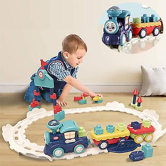 Bebamour Kids Play Trains and Trams Children Stacking Train Toy Set for Kids Age 3+