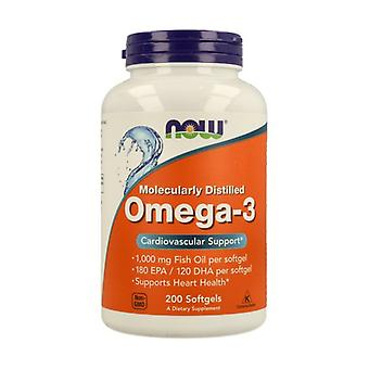 Omega-3 1000mg Molecularly Distilled 200 softgels of 1000mg