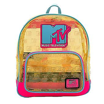 Loungefly x MTV Debossed Logo Transparent Mini Backpack