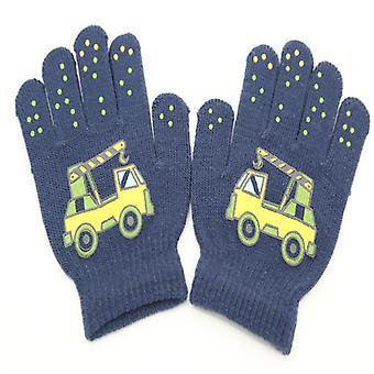 Fingerhandschuhe Kinder 6-12 Jahre Dunkelgrau/Kranich