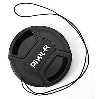 Phot-r 55 mm centre pinch lens cap with safety cord for dslr cameras 55mm