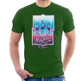 Miami Vice 3 Flamingos Men's T-Shirt