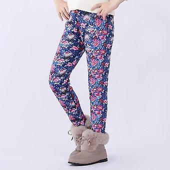 Meisjes Leggings, Peuter & Kinderen Dikke Warme Print Flower Pants