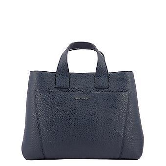 Orciani B02075softnavy Women's Blue Leather Handbag