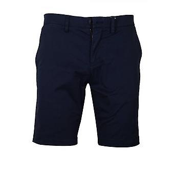 Pantaloni chino scurți Lacoste Slim Fit bleumarin
