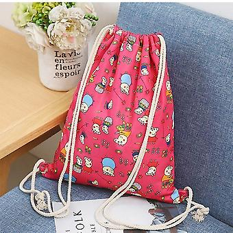 Fashion Portable Drawstring & Shoes Bags, Cotton Travel Pouch Storage Clothes