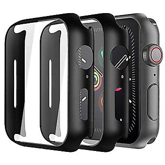 Alinsea Screen Protector for Apple Watch 40mm Case with Built-in Tempered Glass Screen Protector [2 Pack] [Daily Waterproof] [3D Full Coverage] All Around Cover Bumper Case for iwatch 40mm Series 4/5?