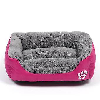 Large Pet Cat Dog Bed 8colors Warm Cozy Dog House Soft Fleece Nest Dog