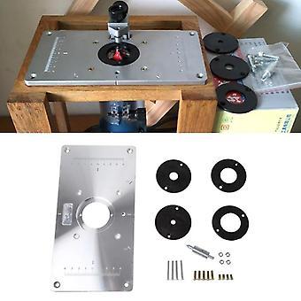 Alumiininen reititinpöytä, aseta levy 4-renkailla puuntyöstöpenkeille