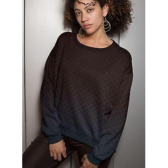 Blue brand pattern sublimation sweatshirt