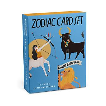 Em  Friends Zodiac Cards Box of 12 Assorted by Created by Em amp Friends