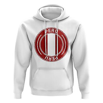 Peru Football Badge Hoodie (White)