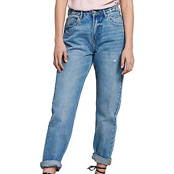 Funky Buddha Women's Mom Fit Jeans With Washed Effects