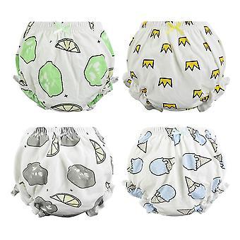 4 Pcs/lot Cotton Baby Underwear Cute Diaper Panties