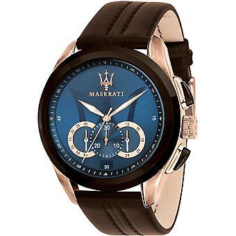 Maserati R8871612024 Men's Traguardo Brown Strap Chronograph Wristwatch