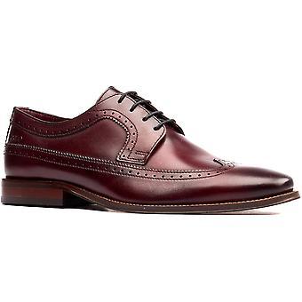Base London Mens Havisham Plain Toe Leather Derby Shoes